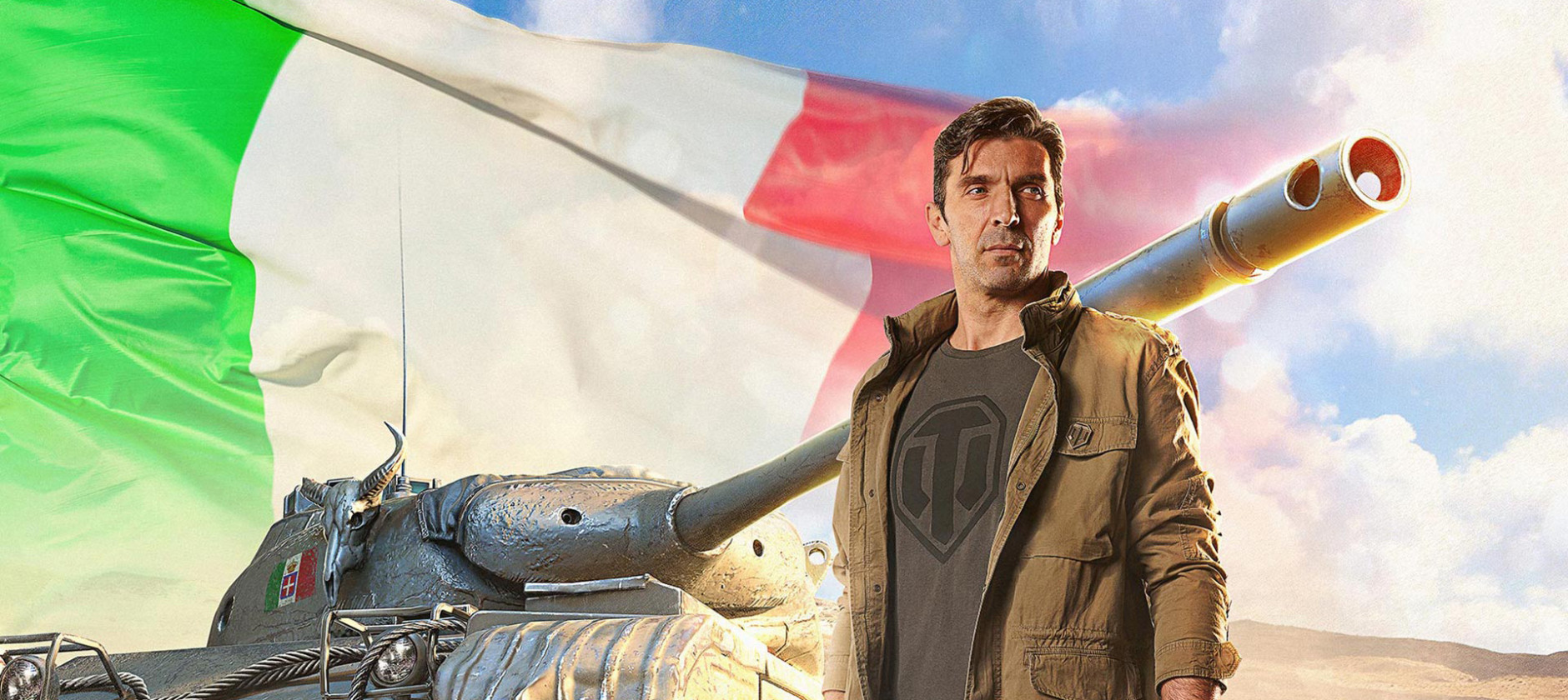 Gigi Buffon al comando di un carro armato in World of Tanks