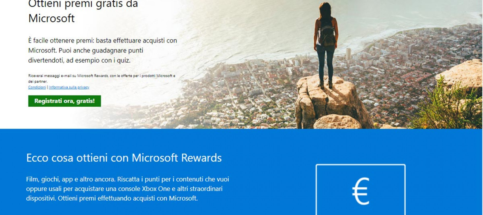 Microsoft Rewards arriva in Italia